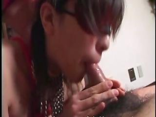 Bound And Blindfolded Oriental Girl Made To Suck Cock On Her Knees