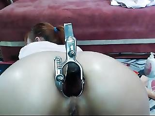 Webcam Girl Plays With Speculum And Bottle 2