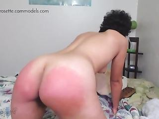 Rose Gets Hard Paddle Spanks For Her 2018 Birthday On Cam!