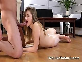 Suprise Cumshot For Cute Teen In Her First Porn Movie