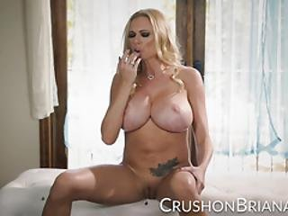 Busty Blonde Briana Banks Finger Fucks Her Pussy