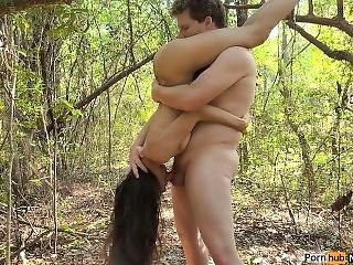 Funky Forest Fun! (standing 69 + Doggystyle Creampie + Squirting)