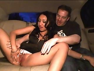 Limo Slut Fucks 3 Guys