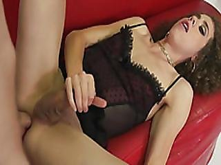 Curly Haired Ts Lily Demure Anal Rammed By Nasty Photogcuter