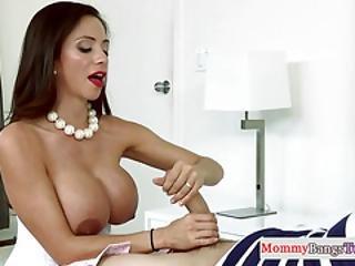 Classy Stepmom Tastes Cum With Teen Beauty