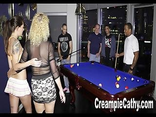 Her 1st Anal Creampie Gangbang
