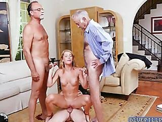 Blonde Teen Raylin Ann Banged By Older Men