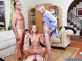 Blonde Teen Raylin Ann Banged By Older Men