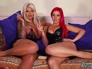 Busty British Pornstars Smoking Naked