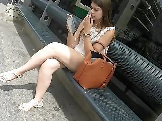 Sexy Milf Legs Crossed Toes Amateur Voyeur Candid 34