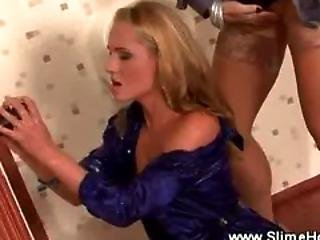 Cum Drenched Lesbos Loves The Gloryhole