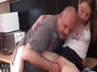 Grizzly Old Pervert Fisting Her Wrecked Legal Age Teenager Cunt