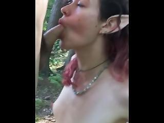 Sexy Elf Deep Throating Cock
