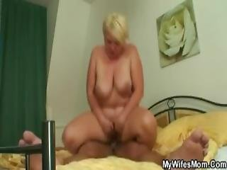 Granny Jumps On Son In Law S Cock