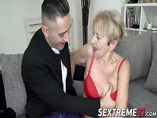 Lusty Grandma Malya Fucked In Pussy By Hung Younger Guy Mugur! Her Experienced Twat Can Never Get Enough Cock!