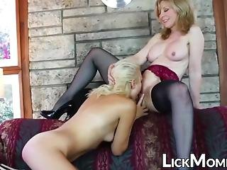 Dyke Cougar Seduces Teen Stepdaughter And Rubs Her Pussy