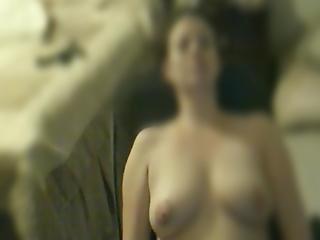 Spying On Wife Masturbating To Lesbian Porn
