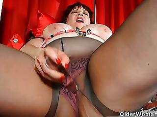Bbw, Big Boob, Boob, Chubby, Chubby Mom, Dildo, Mature, Milf, Mom, Panties, Pantyhose, Pussy, Rough, Stocking