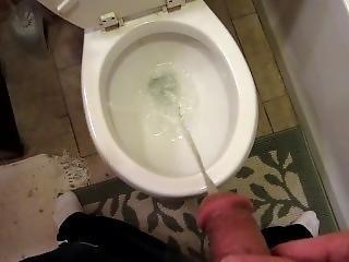 Long Steady Pee In Toilet