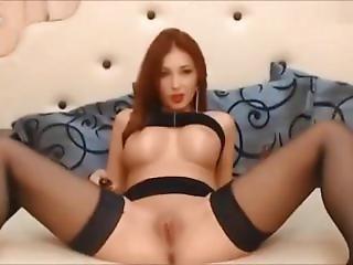 Hott Busty Redhead Fingerz & Toy Fuckz Pussy ~ ?????e?