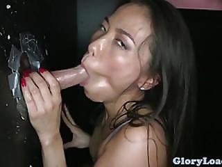 Asian Gloryhole Amateur Doggystyled After Bj