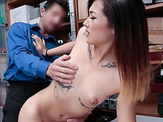 Tommy Fucks Asian Pussy For Stealing Condoms