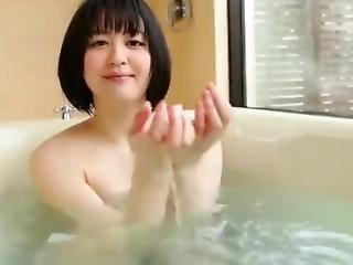 Very Beautiful Japanese Girl Bathing