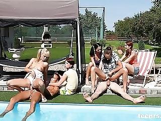 Poolside Party Sex From Teenrs Com