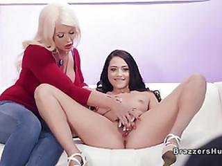 Stepmom And Teen Sharing Cock At Casting
