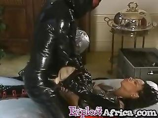 Smoking Hot Ebony Chick Got Her Fine Ass Tormented In A Kinky Costume