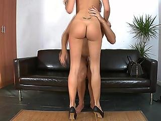 Clumsy oldman gets to fuck a tall skinny youthful girl 10