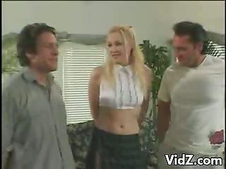 Filthy Blondie Gia Lee Shows Flexibility