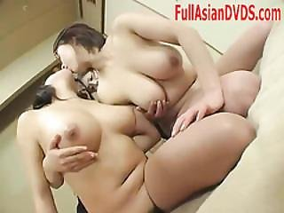 Busty Japanese Girls Kissing Massage Play