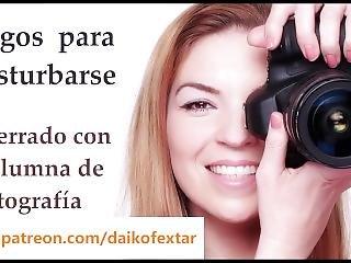 Joi En Español. Encerrado Con La Alumna De Fotografía.
