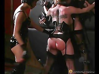 연결, 주물, 가죽, 레즈비언, 성숙한, 섹스