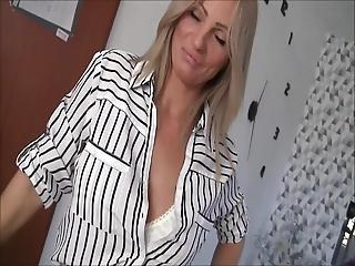 Creampie For Horny Blonde Milf