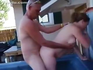 Hotwife Getting Fucked In The Hottub At The Swingers Party