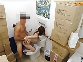 Sexy Babe Screwed By Nasty Pawn Keeper In The Toilet