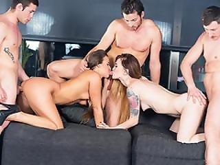Amirah Adara And Misha Cross Have An Orgy