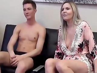 Horny Mature Milf Gets Her Pussy Filled Up With Cum By Lucky Teen Boy
