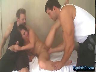 2 Dudes Catch Casey Cumz Squirting In The Sauna