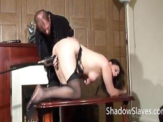 Amateur Slave Jannas Kinky Fetish And Bizarre Machine Fucking And Pussy Punished Domination Of Private Submissive In The Living Room