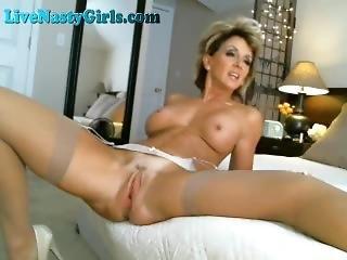 Stunning Milf Dirty Talk Masturbates To Orgasm