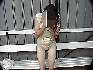 Pussy Shows Through Swimsuit
