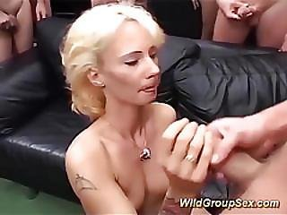 German Tattooed Milfs First Gangbang