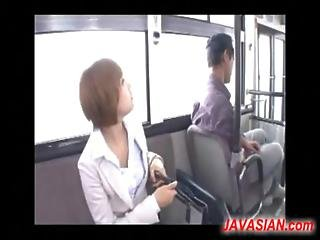 Japanese Girl Fucked By Several Men In Bus