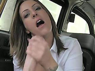 Sexy Babe With Incredible Tits Gets Banged Hard In The Cab