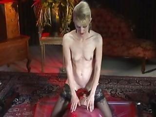 Lesbian In A Latex Vacuum Bed