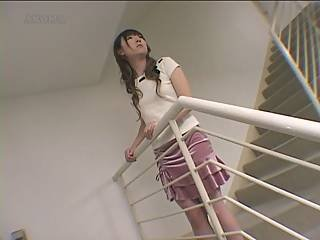 Teen Girls Stairway Orgasm