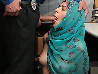 Muslim Thief Audrey Bangs Hard In Her Pussy